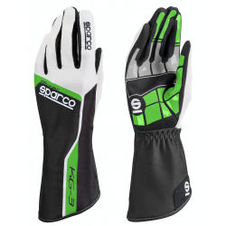 Guantes Sparco Track KG-3 Negro/Verde