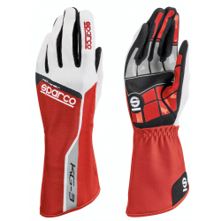 Guantes Sparco Track KG-3 Rojo
