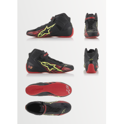 Botas Alpinestars KZ Negro/Rojo/Amarillo Exclusiva