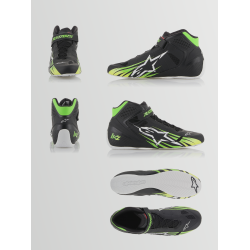 Botas Alpinestars KZ Negro/Verde/Amarillo Exclusiva