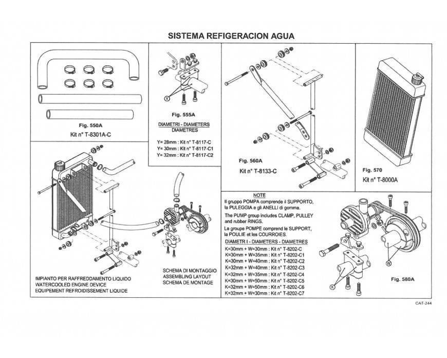 Sistema Refrigeración Agua X30