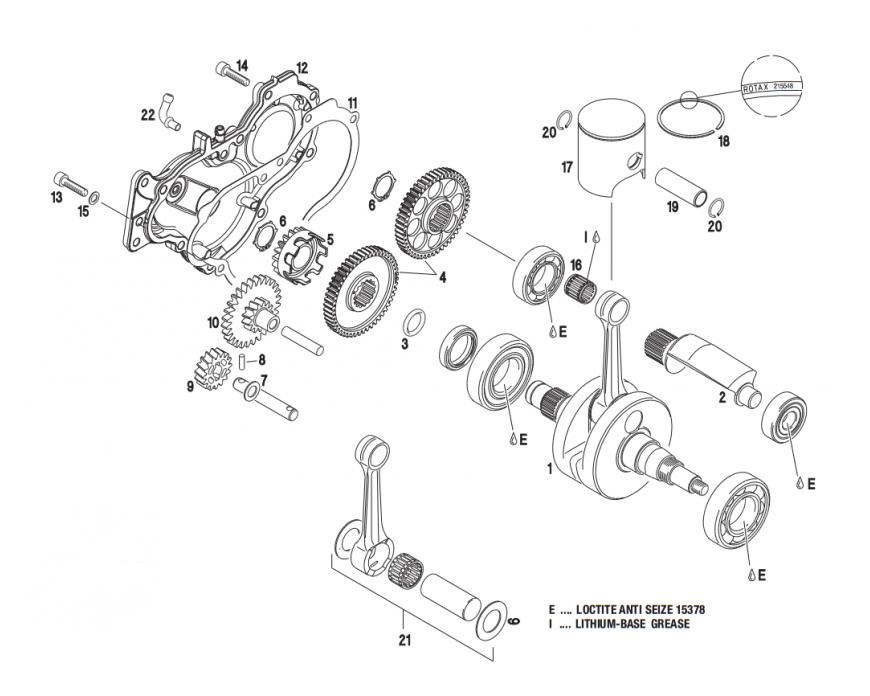 Rotax Max ® Recambio Cigüeñal, piston | KPS Racing Oficial