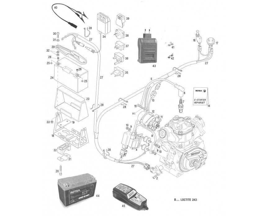 Rotax Max ® Recambios del arranque y sistema eléctrico | KPS Racing