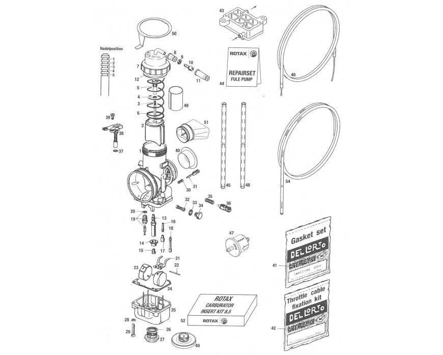 Rotax Max ® Despiece del Carburador y Accesorios Gasolina | KPS