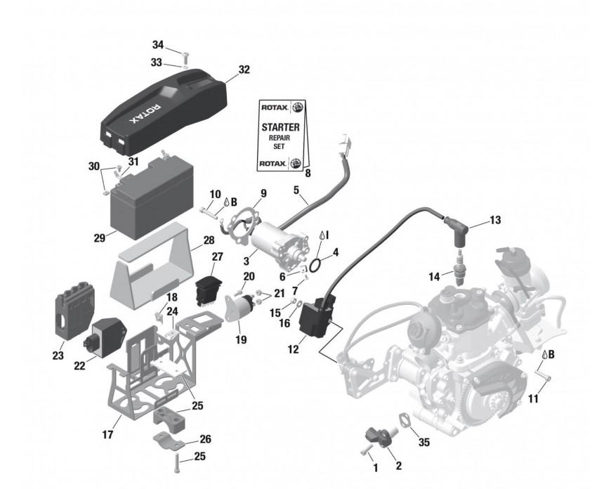 Rotax Max ® Recambios del sistema de encendido | KPS Racing Oficial