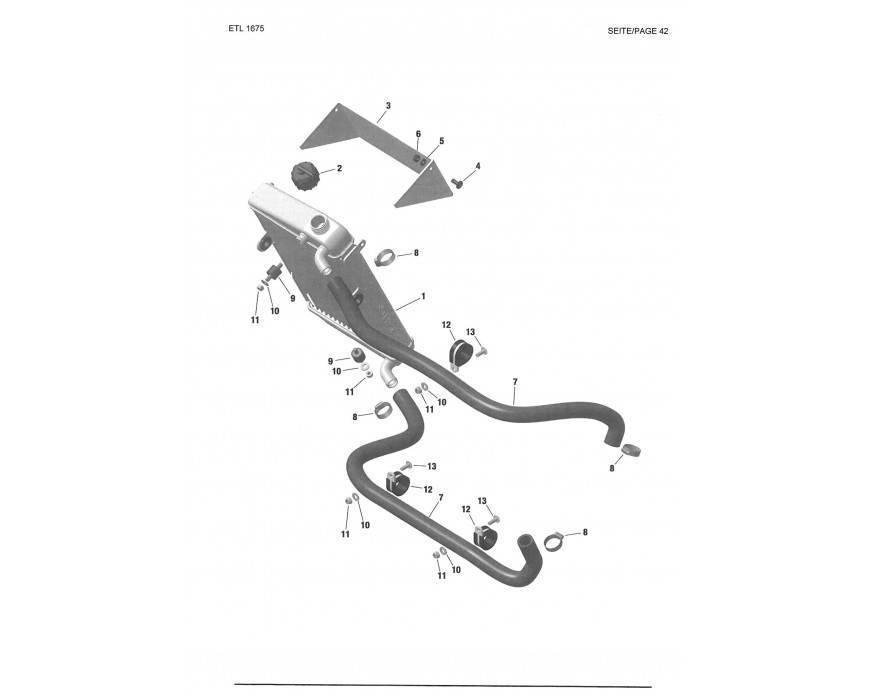 Radiador Rotax DD2 conjunto